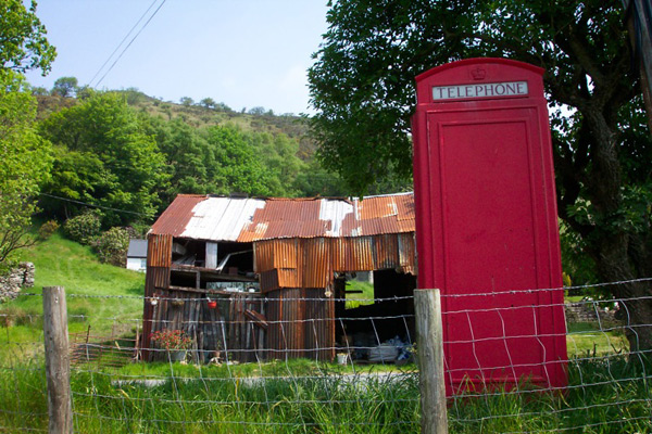 Phonebox in field